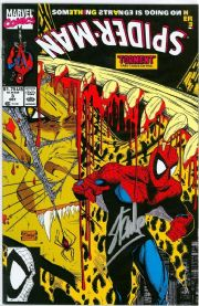 Spider-Man #3 First Print (1990) Signed Stan Lee Lizard Marvel comic book
